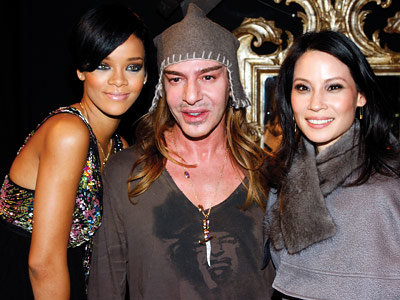 Rihanna, John Galliano, Lucy Liu, Paris Fashion Week