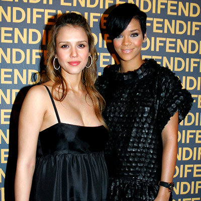 Jessica Alba and Rihanna, Fendi Party, Pari