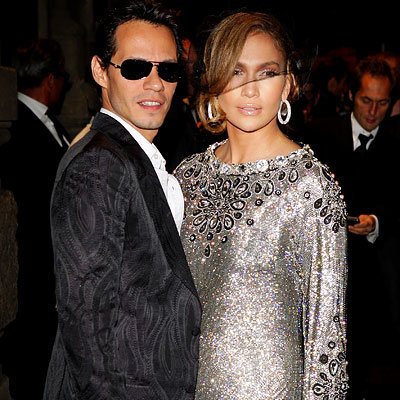 Marc Anthony, Jennifer Lopez, Milan Fashion Week, Spring 2009