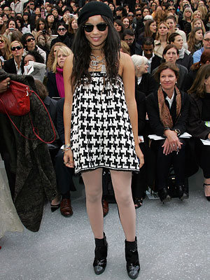 Zoe Kravitz, Paris Fashion Week