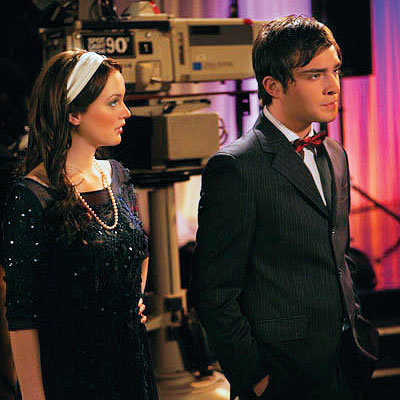 Blair (Leighton Meester) and Chuck (Ed Westwick) attend Rufus's performance.