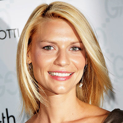 Claire Danes - Straight hair with uneven part