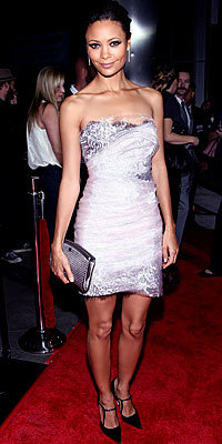 Thandie Newton, Marchesa, Silver, Holiday Dresses