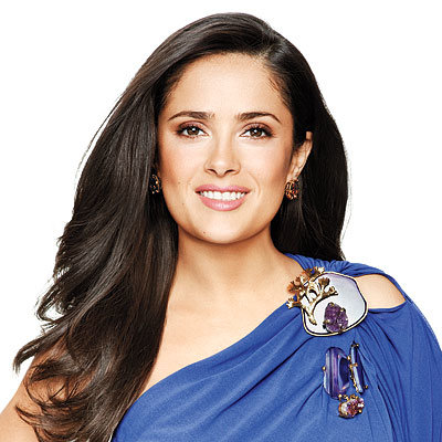 Salma Hayek-Hair-InStyle Cover