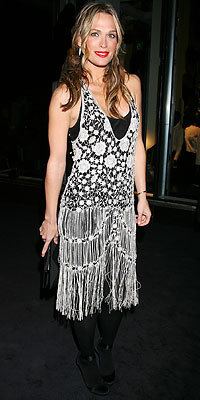 Molly Sims in Armani, Armani flagship store opening, New York City, Fall 2009 Fashion Week