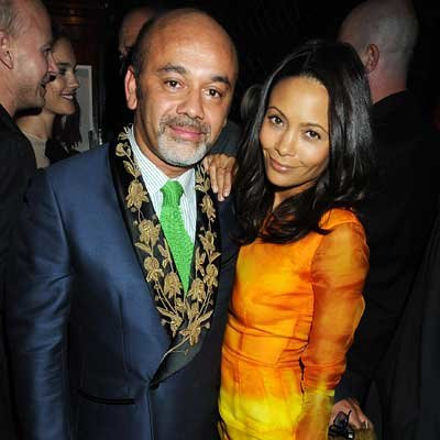 Christian Louboutin and Thandie Newton