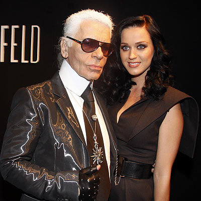 Karl Lagerfeld with Katy Perry