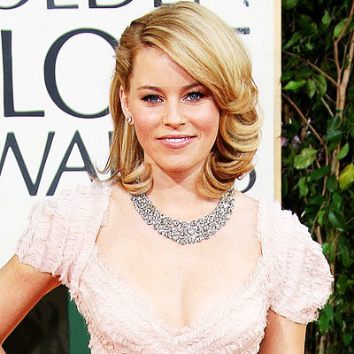 2009 Golden Globes, Hair Trends, Side parts, Elizabeth Banks