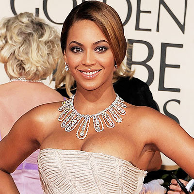 2009 Golden Globes, Jewelry Trends, Statement Necklaces, Beyonce Knowles