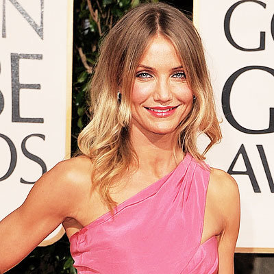 Golden Globes 2009, Hair Trends, Down & Loose, Cameron Diaz