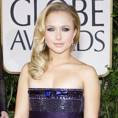 2009 Golden Globes, Hair Trends, Side Parts, Hayden Panettiere