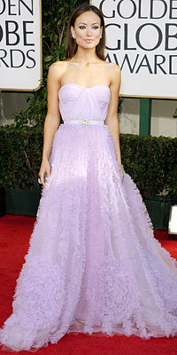 Olivia Wilde, Reem Acra, Golden Globe Awards 2009