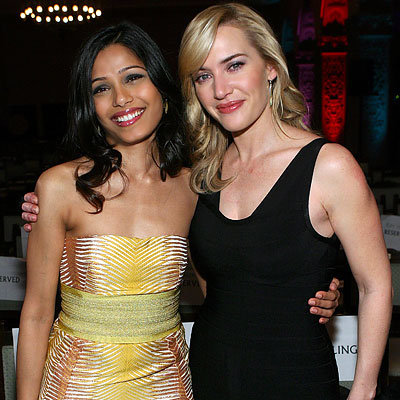 Girl About Town: Freida Pinto in Missoni, Kate Winslet, 4th Annual Oscar Wilde: Honoring The Irish In Film Awards, Los Angeles, 2009 Oscar pre-parties, Academy Awards