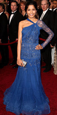 Girl About Town: Frieda Pinto in John Galliano, 2009 Oscars, Los Angeles
