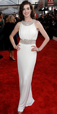 Anne Hathaway in Azzaro, 2009 SAG Awards, Screen Actors Guild, Los Angeles