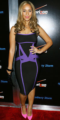 Leona Lewis in Herve Leger, Verizon BlackBerry pre-Grammy party, Los Angeles, 2009 Grammy Awards, Grammy