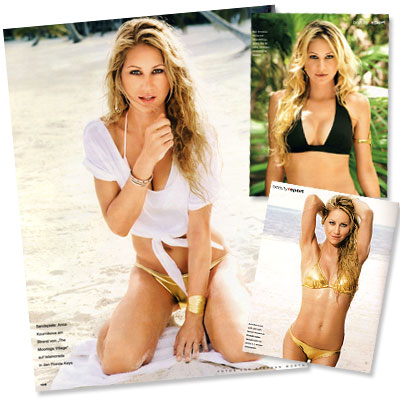 Anna Kournikova Heats Up InStyle Germany