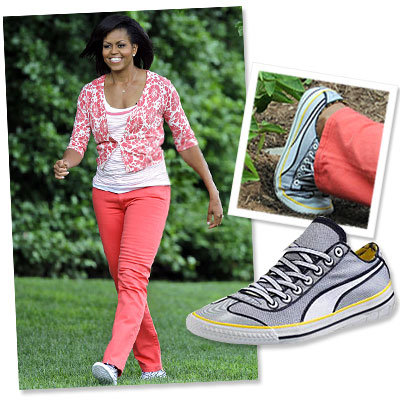 Michelle Obama Wears Another Pair of Chic Kicks