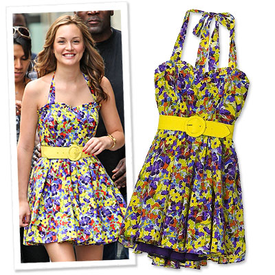 Style On Set: Blair's Floral Halter Dress