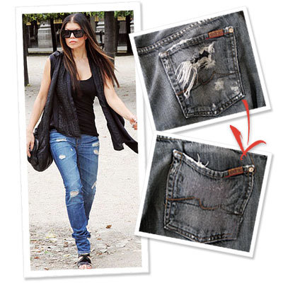 Fergie - Denim Therapy  - distressed denim