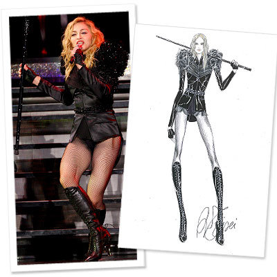 Madonna  -  Givenchy -  Sticky + Sweet Tour