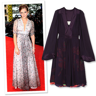 Emma Watson in Ossie Clark - What's Right Now - Fashion News