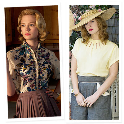January Jones - Drew Barrymore - 2009 Emmy Nominations - Best Costumes - Mad Men - Grey Gardens