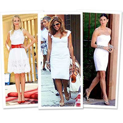 Eva Mendes - Cameron Diaz - Demi Moore - white dress