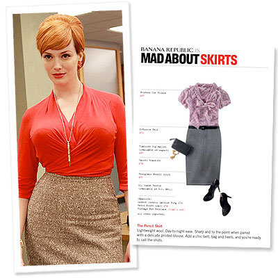 What's Right Now - Banana Republic Mad Men Style Guide