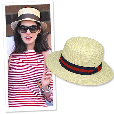 Anne Hathaway - boater hats