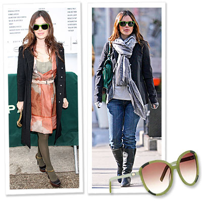 We're Mad About… Rachel Bilson's Green Sunglasses