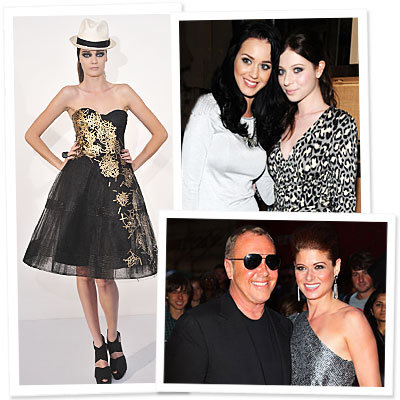 Monique Lhuillier - Katy Perry - Michelle Trachtenberg - Michael Kors - Debra Messing - Fashion Week Day 1 - What's Right Now - Fashion News