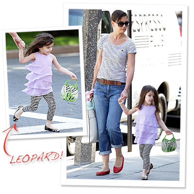 Mommy and Me Stripes, Plus Suri Cruise's Newest Shoe