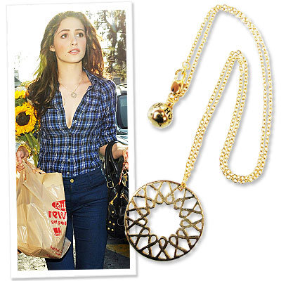 Emmy Rossum and Rachel Leigh Design Breast Cancer Awareness Pendant