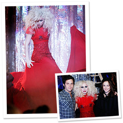 Lady Gaga's 30-Foot-Long Gossip Girl Dress