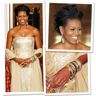 Michelle Obama Glows in Naeem Khan