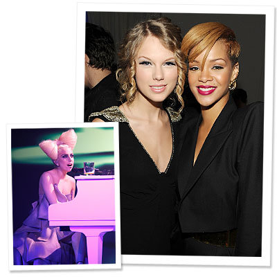 Taylor and Rihanna Fete VEVO