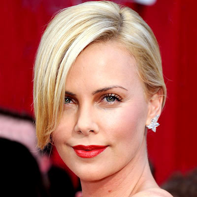 Charlize Theron - Sleek and Simple Updo - Top 10 Party Hairstyles of 2010