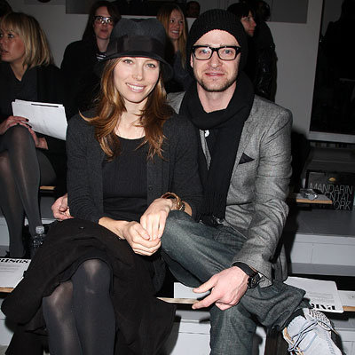 Fall 2010 Fashion Week - Jessica Biel and Justin Timberlake - Launch of Paris86