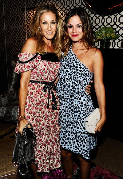 Sarah Jessica Parker and Rachel Bilson at the Spring 2011 Diane Von Furstenberg show during New York Fashion Week