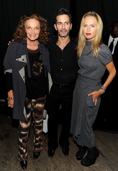 Diane Von Furstenberg, Marc Jacobs, and Rachel Zoe at Marc Jacobs Spring 2011