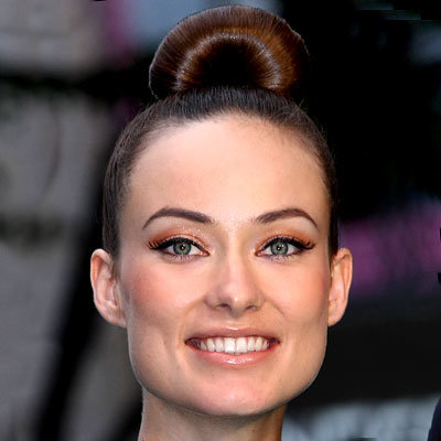 Olivia Wilde's Slick Top Knot