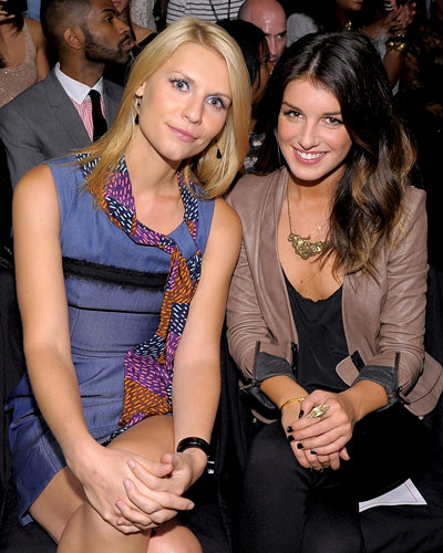Claire Danes and Shenae Grimes at Z Spoke by Zac Posen Spring 2011 show during New York Fashion Week