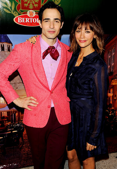 Zac Posen and Rashida Jones in Lincoln Center during New York Fashion Week