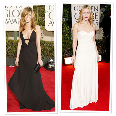 Aniston and Winslet Present at Golden Globes