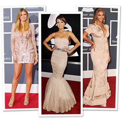 Grammy's Red Carpet Trend: Nude Dresses