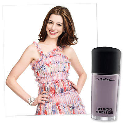 Anne Hathaway-Twitter Beauty Questions-Nail Polish
