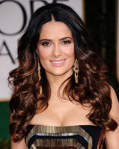 Golden Globes - Salma Hayek - Hair and Makeup