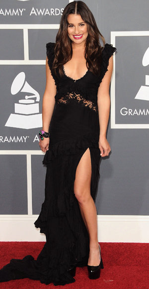 Lea Michele - Emilio Pucci - Red Carpet Arrivals - Grammy Awards 2011
