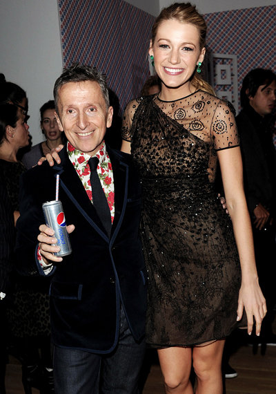Simon Doonan and Blake Lively